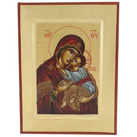 Icône peinte Vierge de Tendresse