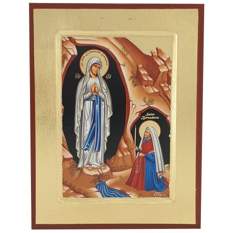 Icône peinte Notre Dame de Lourdes