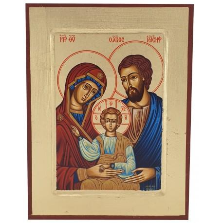 Icône peinte Sainte Famille