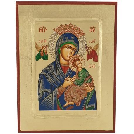 Icône peinte Notre Dame du Perpétuel Secours