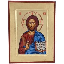 Icône peinte Christ Pantocrator