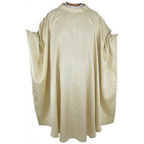 Chasuble en polyester et acétate.