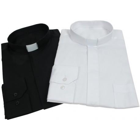 chemise clergyman en coton